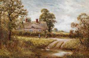 John Bonny - Duck Pond (painted under the pseudonym W. Norris)