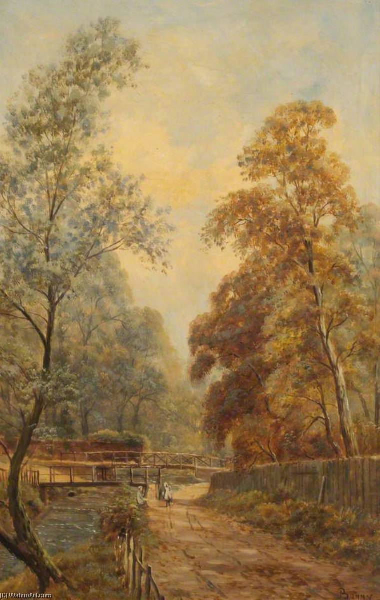 Weir Hall Ford by John Bonny | Paintings Reproductions John Bonny | WahooArt.com
