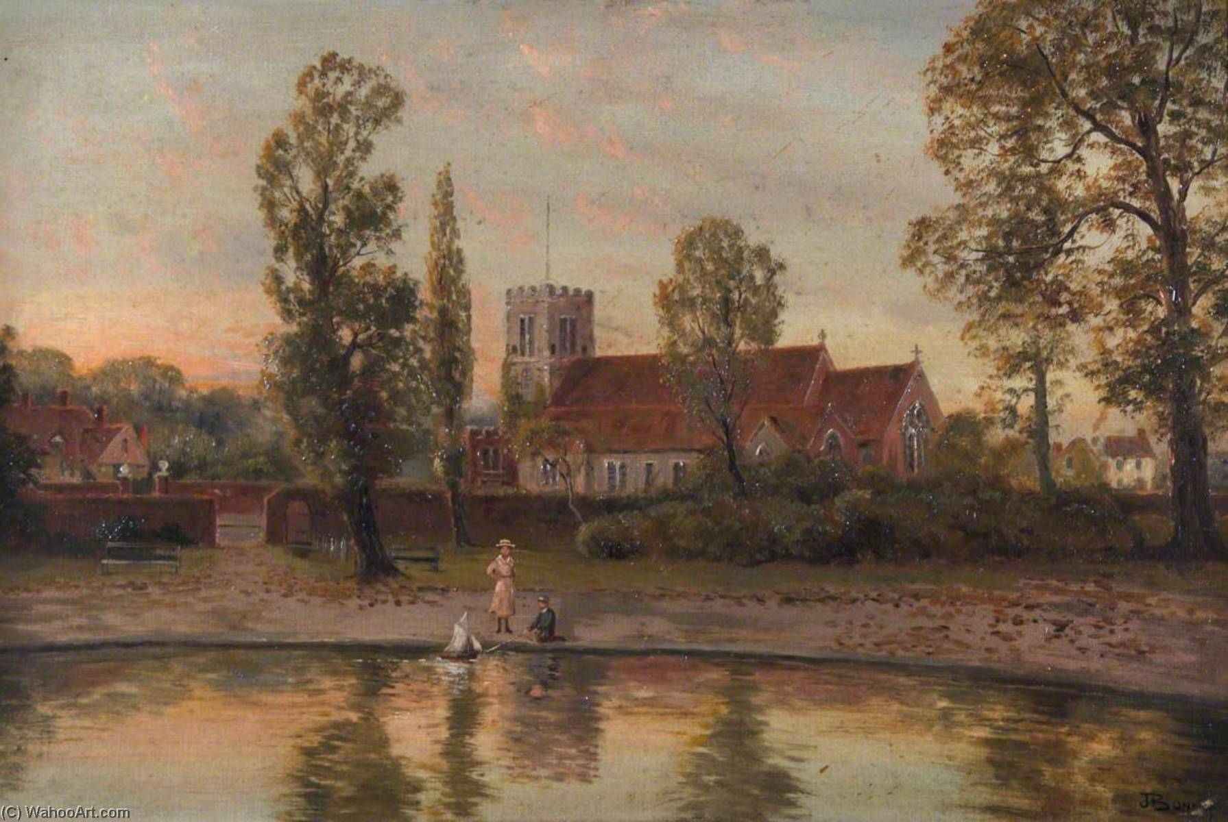 All Hallows Church, Tottenham, Oil On Canvas by John Bonny