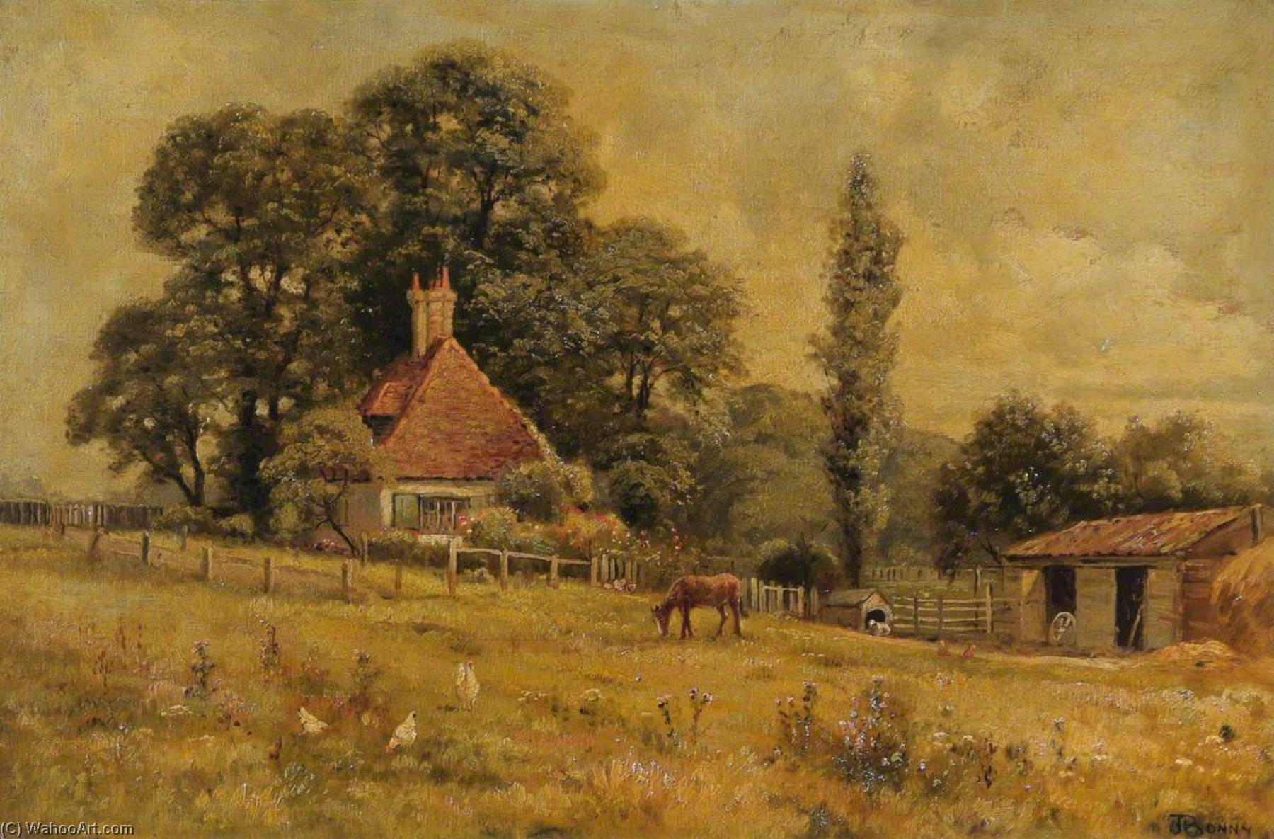 Montague Cottage by John Bonny | Paintings Reproductions John Bonny | WahooArt.com