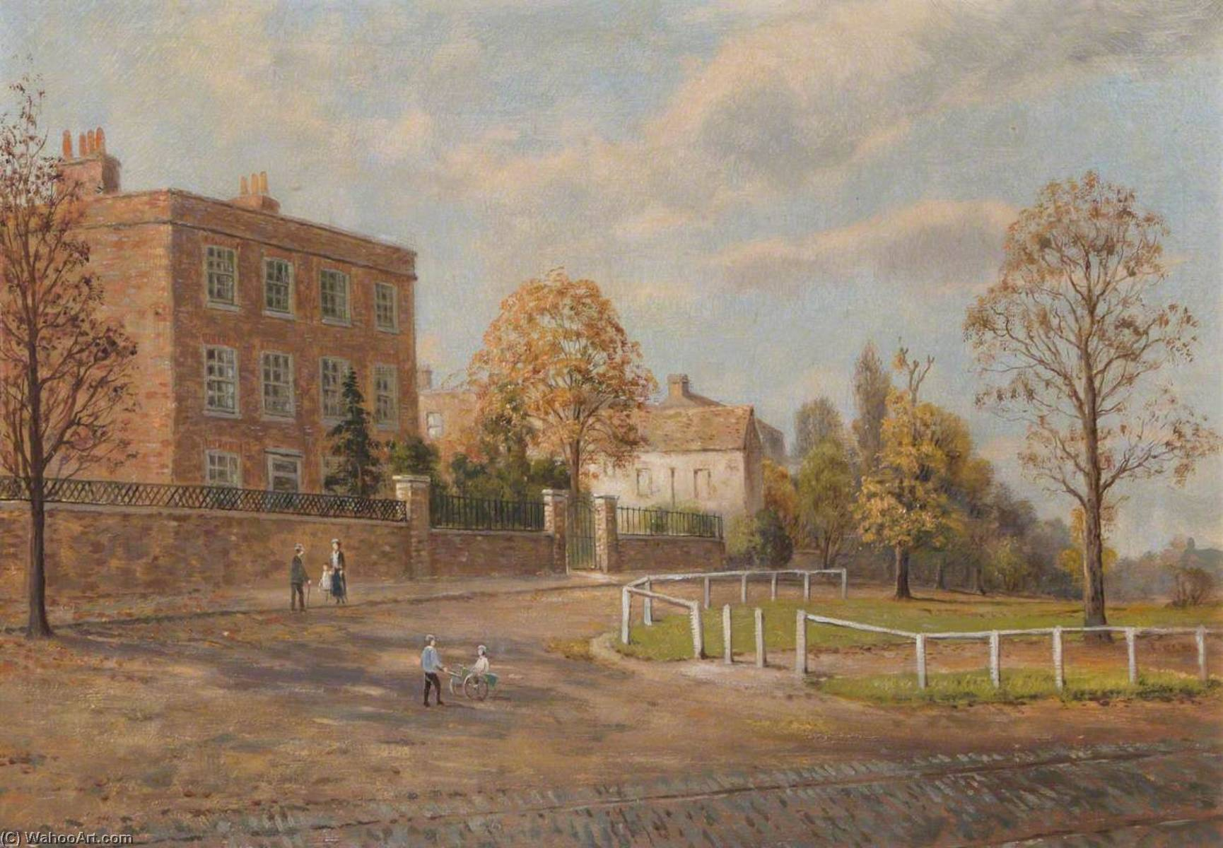 Eagle House, Tottenham Green, Oil On Canvas by John Bonny
