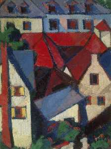 Margaret Morris - Red Roofs (Dieppe)