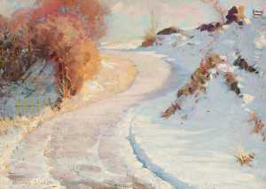 Henry Young Alison - Winter Landscape