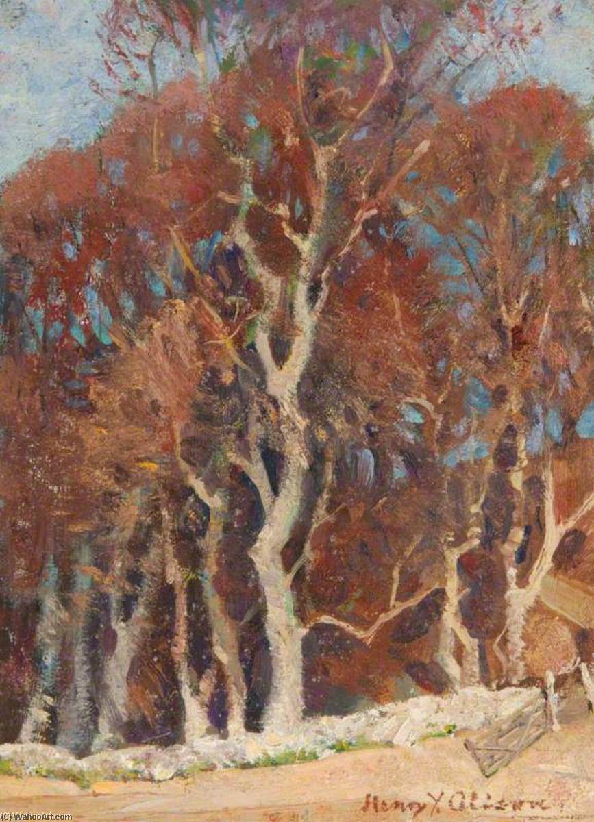 Study of Trees by Henry Young Alison | Oil Painting | WahooArt.com