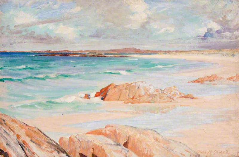 Seascape with Rocks by Henry Young Alison | Museum Quality Reproductions | WahooArt.com