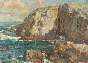 Henry Young Alison - Seascape with Cliffs