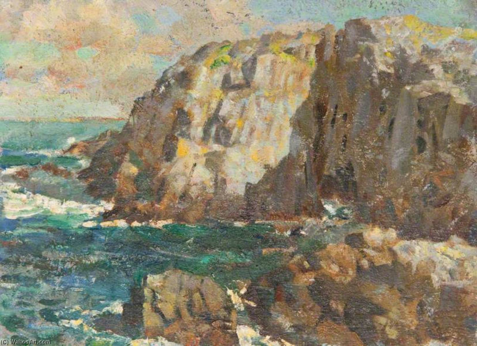 Seascape with Cliffs by Henry Young Alison | Painting Copy | WahooArt.com