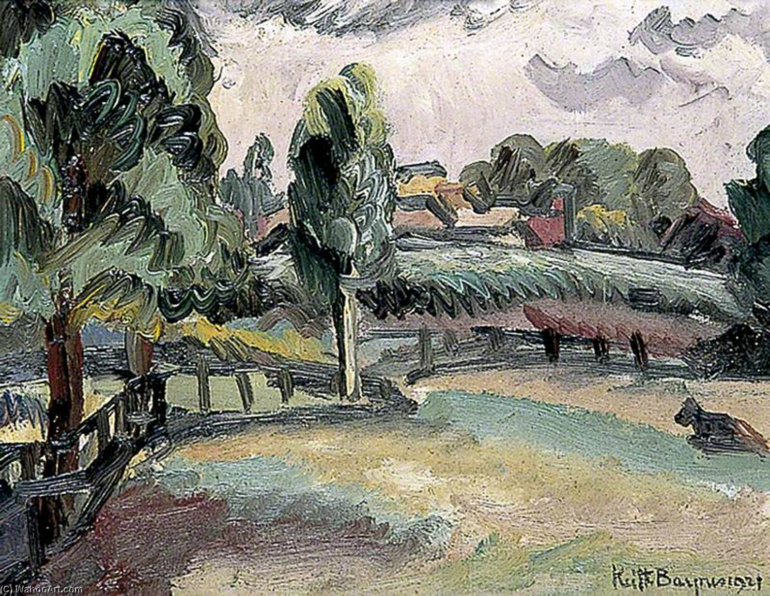Landscape, 1921 by Keith Baynes | Museum Quality Reproductions | WahooArt.com