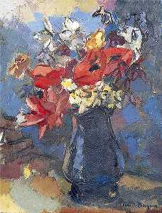 Keith Baynes - Still Life, Flowers in a Jug