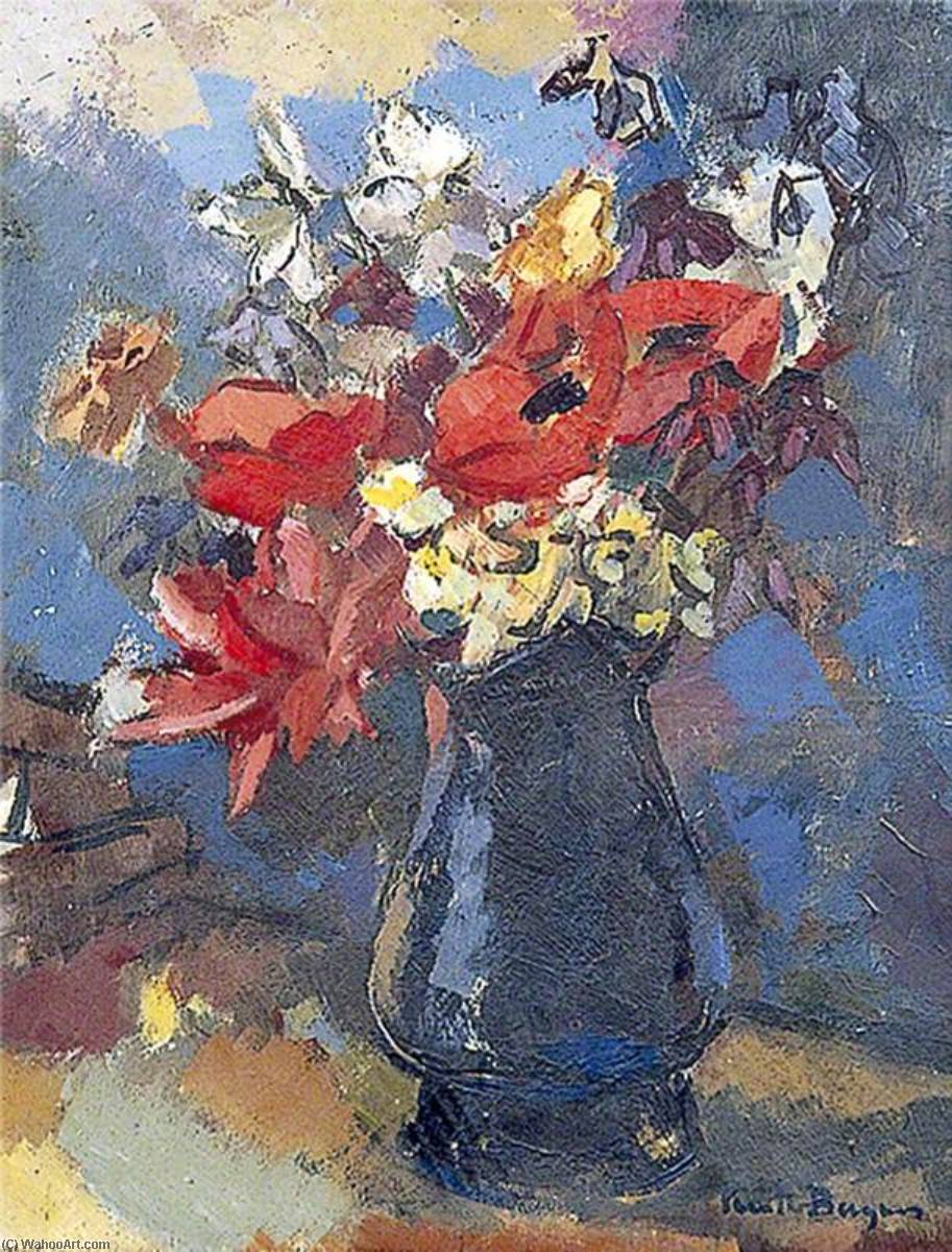 Still Life, Flowers in a Jug, 1935 by Keith Baynes | Reproductions Keith Baynes | WahooArt.com