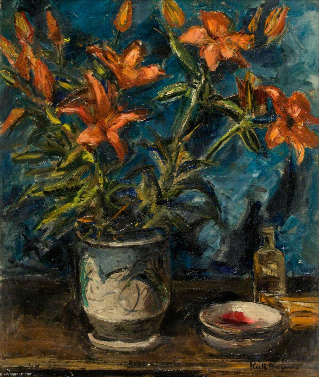 Flower Piece, 1940 by Keith Baynes | Famous Paintings Reproductions | WahooArt.com