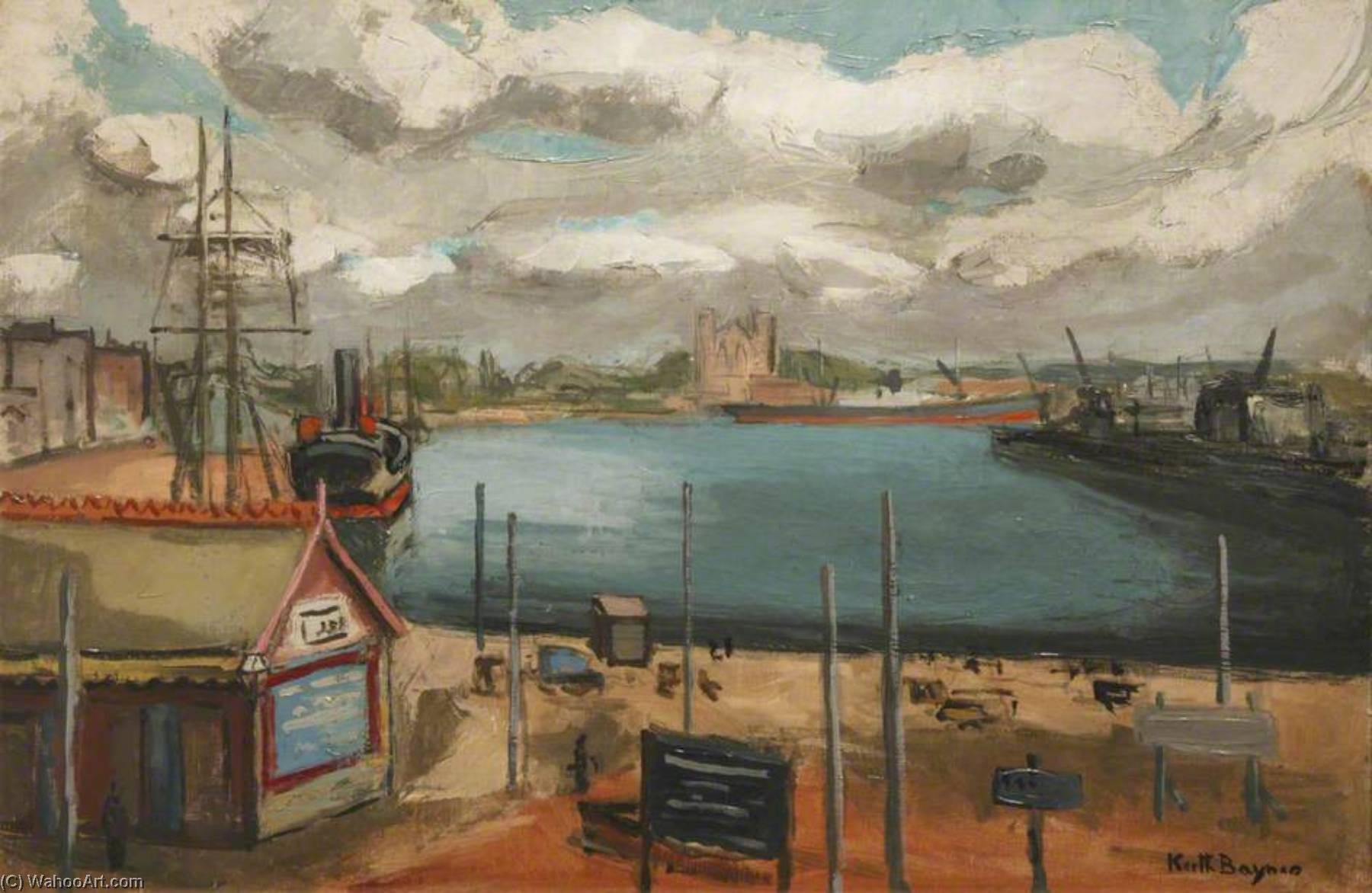 Harbour, 1930 by Keith Baynes | Reproductions Keith Baynes | WahooArt.com