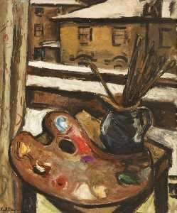 Keith Baynes - Still Life with Brushes and Palette
