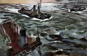 Albert Richards - Seacombe Ferry in Wartime