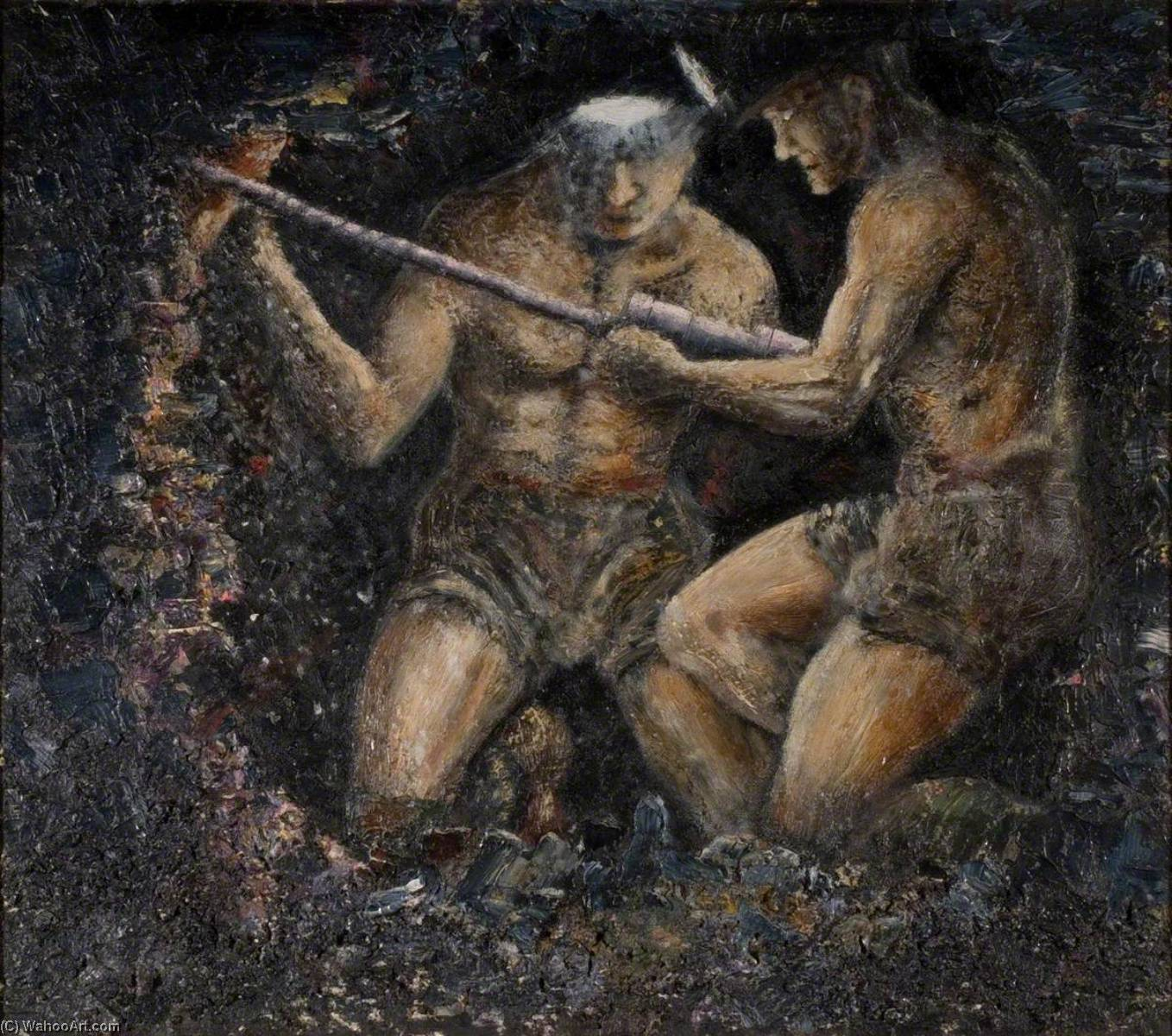 Borer and Mate, Oil On Panel by Norman Phillips