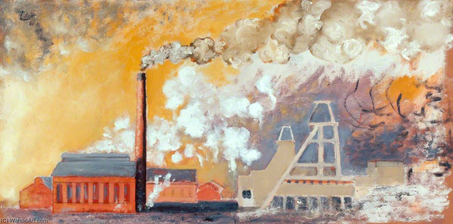 Thorne Colliery Landscape by Norman Phillips | WahooArt.com