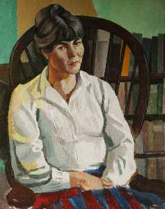 Ronald Power - Lady in a White Blouse
