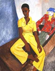Portrait of a Lady in Yellow, Oil by Ronald Power (order Fine Art Framed Giclee Ronald Power)