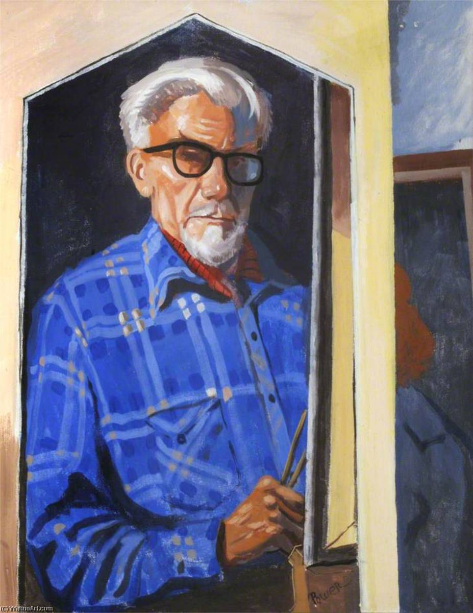 Self Portrait, Oil On Canvas by Ronald Power