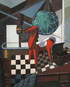 Ronald Power - Still Life Chequered Board