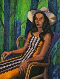 Order Museum Quality Reproductions : South American Woman by Ronald Power | WahooArt.com