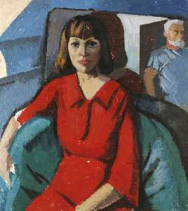 Ronald Power - Lady in a Red Dress