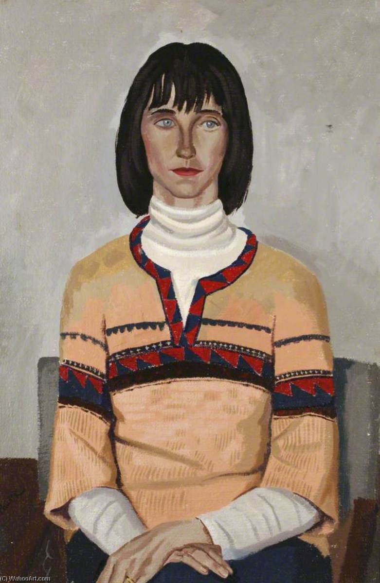 Lady in a Sawtooth Jumper by Ronald Power | Art Reproduction | WahooArt.com