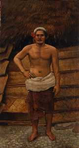 Order Art Reproductions | Samoan Man, 1899 by Antonion Zeno Shindler | WahooArt.com