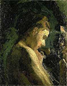 Thomas Eakins - Study of a Girl's Head