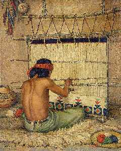 Carl Moon - Hopi Weaver