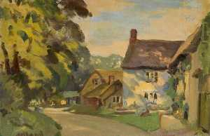 George Herbert Buckingham - Cottages at Sulgrave, Northamptonshire