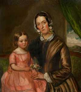 John Irvine - Mrs Ursula Irvine (1814–1895), and Daughter Jessie Irvine (1848–1932)