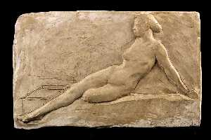 Emily Clayton Bishop - Reclining Female Nude