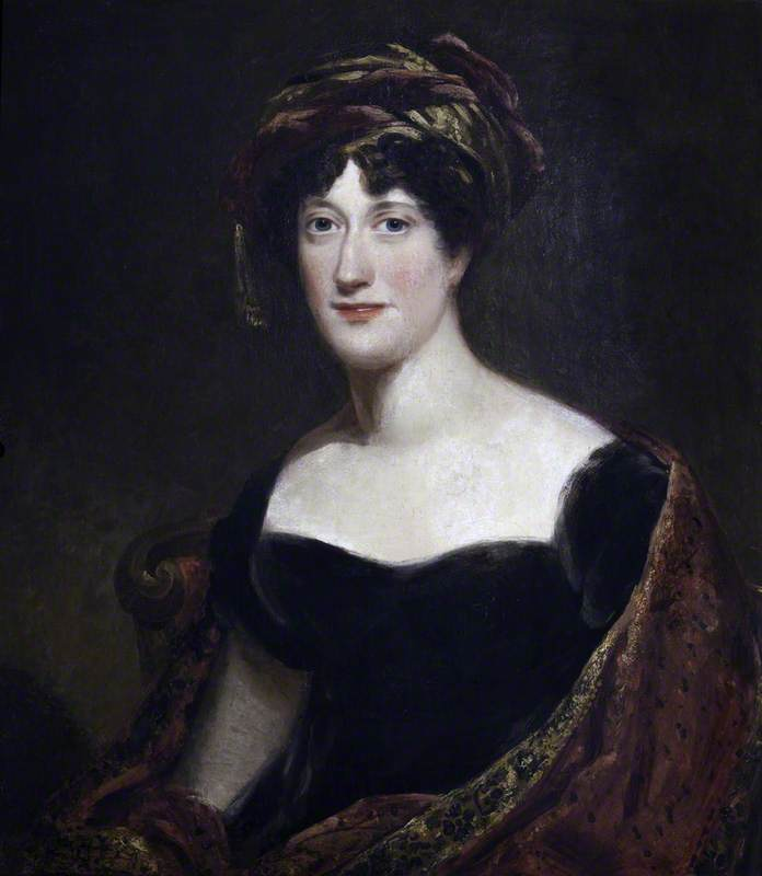 Lady Anne Margaret Coke (1779–1843), Viscountess Anson, Oil On Canvas by Thomas Barber