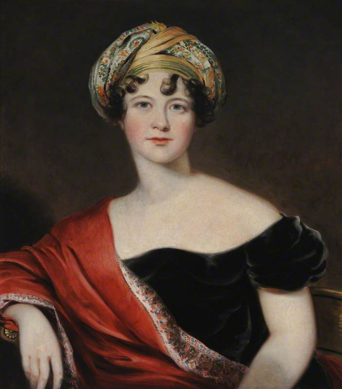 Lady Harriet Cavendish (1785–1862), Countess Granville, 1810 by Thomas Barber | Oil Painting | WahooArt.com