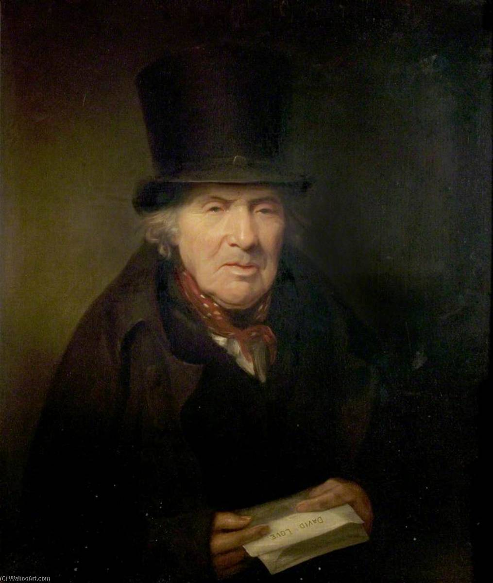David Love (1750–1827), Ballad Writer, Oil On Canvas by Thomas Barber