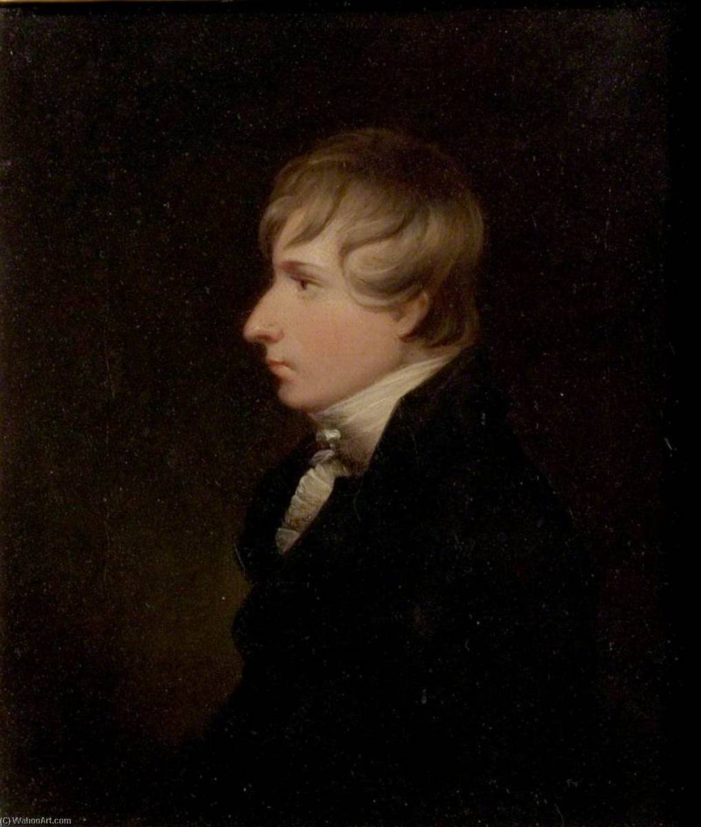 Henry Kirke White (1785–1806), Poet, Oil On Canvas by Thomas Barber