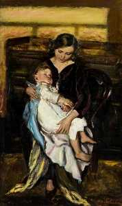 Archibald A Mcglashan - Mother and Child