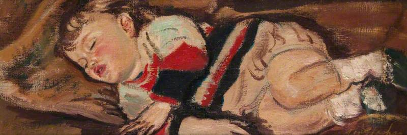 Sleeping Child (Siesta), 1938 by Archibald A Mcglashan | Museum Art Reproductions Archibald A Mcglashan | WahooArt.com