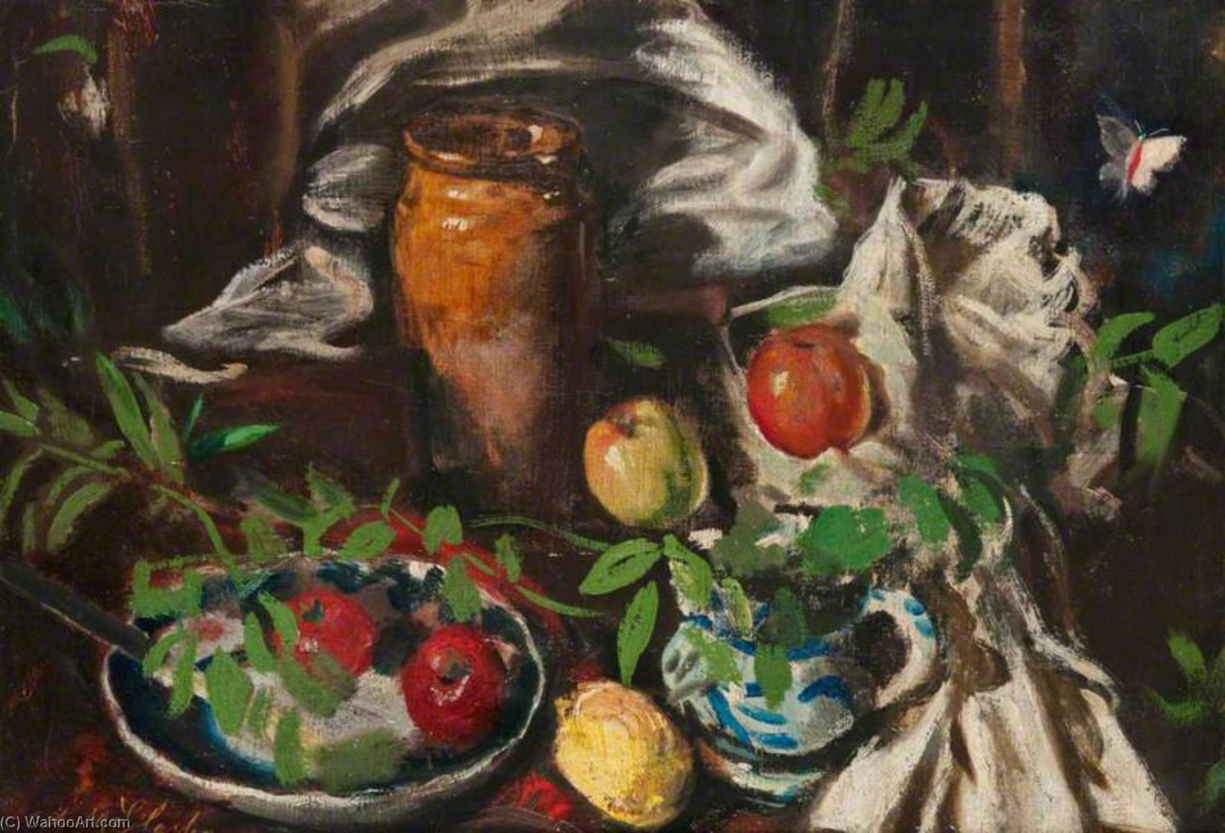 Still Life with Apples, 1929 by Archibald A Mcglashan | Museum Quality Copies Archibald A Mcglashan | WahooArt.com
