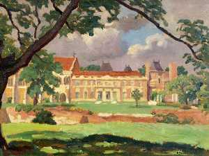 Ethelbert White - Eltham Palace from the South