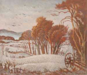 Ethelbert White - Landscape in Snow