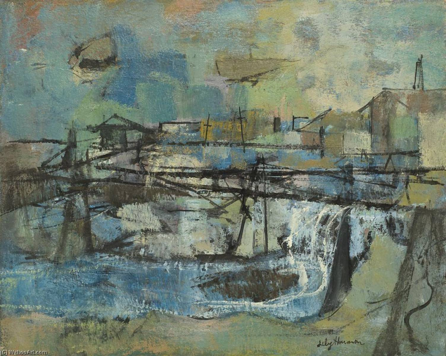 Order Reproductions | Blind River, 1955 by Lily Harmon | WahooArt.com