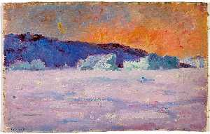 Frank Wilbert Stokes - 3 00 p.m. Sunset at Head of Bowdoin Bay