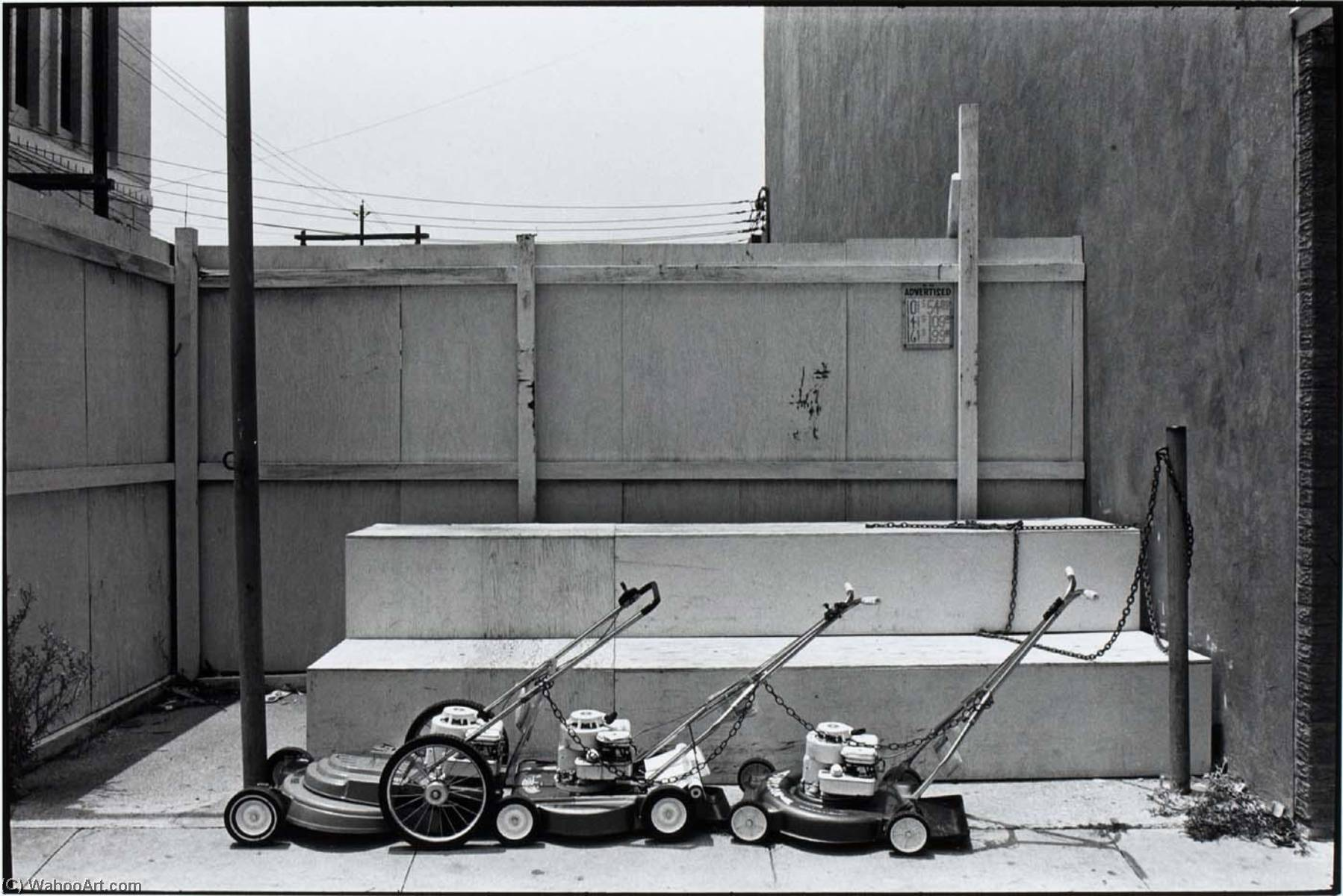 Untitled (Lawnmowers), Print by Paul Hester