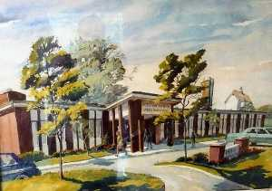 Ruth Van Sickle Ford - Aurora Dental Arts Building, (painting)