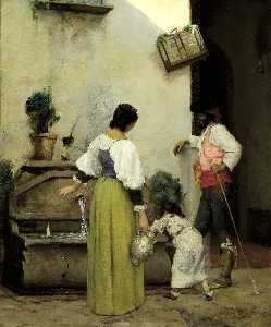 Julian Alden Weir - At the Water Trough