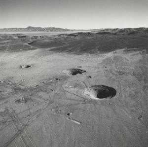 Emmet Gowin - Nuclear Test Area, Northern End of Yucca Flat, Nevada Test Site, Nevada