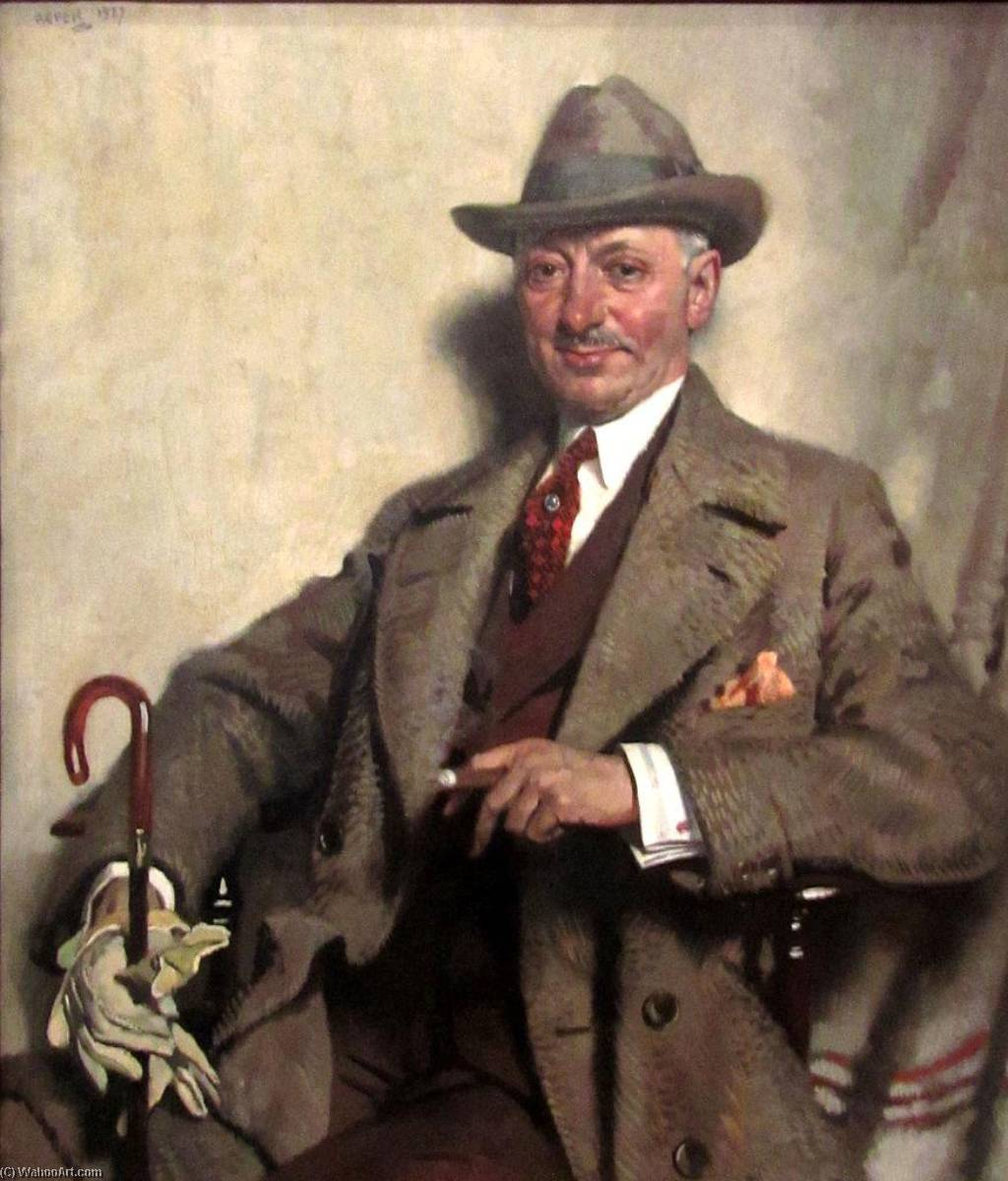 Jacob Epstein, 1927 by William Newenham Montague Orpen (1878-1931, Ireland)