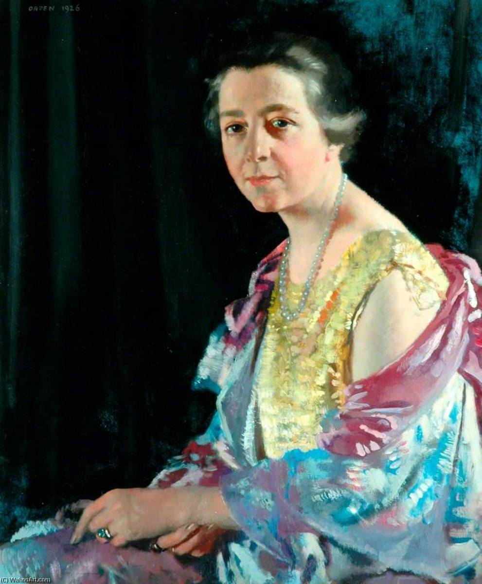 Mrs Thomas Howarth, Oil On Canvas by William Newenham Montague Orpen (1878-1931, Ireland)